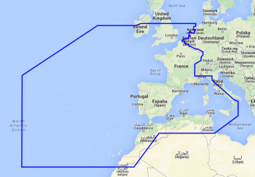 WEST EUROPEAN COASTS AND WEST MED
